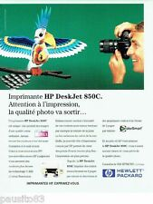 PUBLICITE ADVERTISING 116  1996  Hewlett Packard   imprimante Deskjet 850C