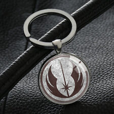 Movie Star Wars keychain Ordem Jedi Key Ring badge Logo Keyrings Car Ring XK144