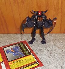Transformers Beast Wars NOCTORRO complete Fuzors Bat Bull Figure w bio & manual