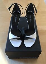 NIB $795 DOLCE & GABBANA Black & White Shoes Heels EU 38.5/US 8