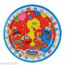 SESAME STREET ABC LARGE PAPER PLATES (8) ~ 1st Birthday Party Supplies Luncheon