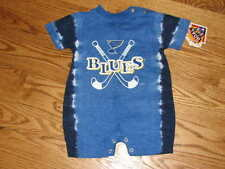NEW St. Louis Blues NHL Romper Creeper Size 18M 18 Mo Baby Boys Girls Bodysuit