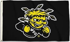 Wichita State Shockers 3' x 5' Flag (Logo Only on Black) NCAA Licensed