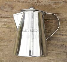 US Civil War Reenactors Camp Fire Stainless Steel Coffee Boiler Maker / Tea Pot