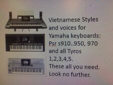 Vietnamese styles and Voices for Yamaha keyboard PSR s910..950, 970,All Tyross
