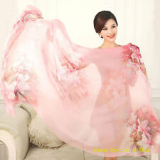 Classical Fashion Women 100% Zegar Silk Scarf , Pink High Quality Lady Scarf