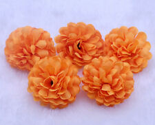 10PCS NEW Orange Daisy Artificial Silk Flower Heads Wedding Party Decoration DIY