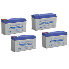 Power-Sonic 4 Pack - 12V 9AH SLA Battery Replaces CP1290 6-DW-9 HR9-12 PS-1290F2