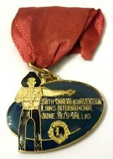 Medaglietta Lions Intern. Con Nastrino - 58th Annual Convention June 1975 Dallas