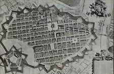 Roman Plan for Turin, Italy, to 17th c. Fortifications,Magic Lantern Glass Slide