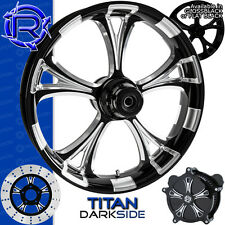 Rotation Titan Darkside Custom Motorcycle Wheel Harley Touring Baggers 21""