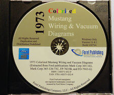 1973 Colorized Mustang Wiring Diagrams (CD-ROM)