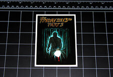 Friday the 13th Part 3 movie decal sticker Jason Vorhees Crystal Lake 80s horror