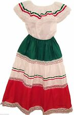 XXLColored-Mexican Elastic Dress Skirt & Blouse  for  any Mexican Occasion-DT#2X