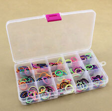 15 Slots Adjustable Storage Box Plastic Case Home Organizer Jewelry Beads Boxes