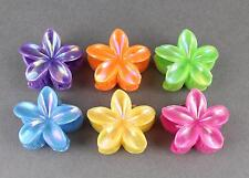 6 plumeria hair clips barrette hawaiian flower clip set of 6 multi color small