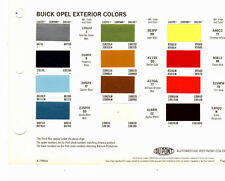 1973 BUICK OPEL 73 PAINT CHIPS DUPONT 3
