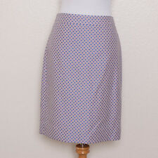 J. Crew Lavender Purple and Blue Polka Dot Classic Pencil Skirt Size 6 NWT