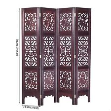 Vintage Oriental Style 4 Panels Screen Room Divider FUR1009