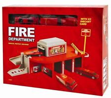 Emergency Response Kids Children Garage Car Game Play Set - Fire Department