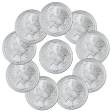 2017 Elemetal Mint 1 oz Silver Year of Rooster Round (Lot of 10 Rounds) SKU43346