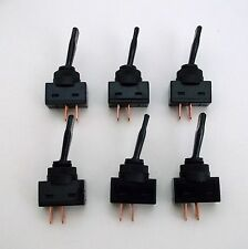6 BBT Brand Heavy Duty Water Resistant Panel Mount on/off Toggle Switches
