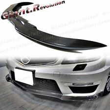 Black Series Style Carbon Front Extension Add Lip 12-14 BENZ W204 C63AMG Bumper