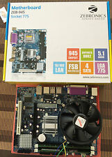 Core2Duo processor+ Zebronics Motherboard-Intel chipset 945 +DDR2 2GBRAM kit