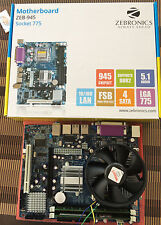 Intel Dual Core processor+ Zebronics Motherboard chipset 945 +DDR2 2GBRAM kit