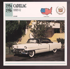1954 1955 1956 Cadillac Series 62 Car Photo Spec Sheet Info Stat ATLAS CARD