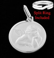 "SILVER ""ANGEL/ CHERUB"" CHARM 8MM WITH SPLIT RING"