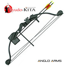 NEW ANGLO ARMS KITA 25lb STARTER COMPOUND BOW SET WITH ARROWS,QUIVER, BOW/ARROW*