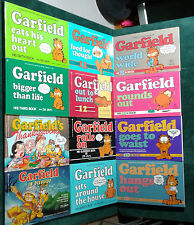 GARFIELD COMIC BOOKS - (1981/1988) JIM DAVIS - 12 BOOK LOT - PAPERBACK - USED