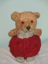 Vintage Teddy Bear Chiltern Hygienic Toys with bell inside