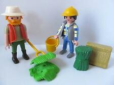Playmobil Farm/Stables/Zoo figures with hay, feed, bucket & pitchfork NEW