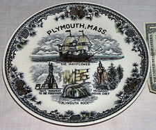 Plymouth Massachusetts USA Rock The Mayflower Chief Natl Monument Ornament Plate