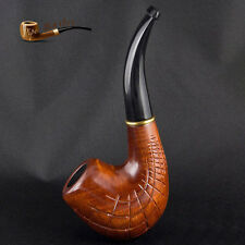 "HAND CARVED WOODEN TOBACCO SMOKING PIPE "" Network ""  PEAR"