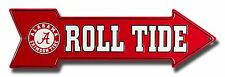 "Alabama Crimson Tide Roll Tide 20"" x 6"" Embossed Metal Arrow Sign"