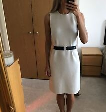 VICTORIA BECKHAM Cashmere Blend Belted Dress in Cream Colour UK6 BNWT