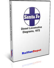 Santa Fe Diesel Engine Diagrams - PDF on CD - RailfanDepot