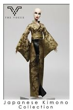 The Vogue Gold Japanese Kimono for Barbie Fashion Royalty FR2 Poppy Parker