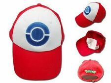 Cosplay Pokemon Hat Ash Ketchum Visor Cap Costume Anime Red Baseball Hat