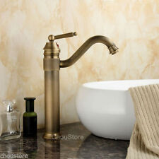 Bathroom Tall Basin Faucet Antique Brass Sink Faucet Mixer Tap Single Handle