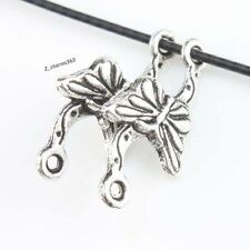 100pcs Wholesale Antique Silver Butterfly Alloy Connector Pendant Necklace DIY L