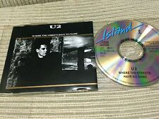 U2 - WHERE THE STREETS HAVE NO NAME CD SINGLE GERMANY 87