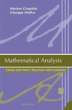 Mathematical Analysis: Linear and Metric Structures and Continuity, All Amazon U