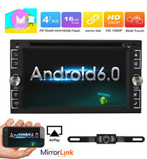 """Android 6.0 Quad Core 6.2"""" Universal 2 Din Car DVD Player Stereo GPS Navi Radio"""