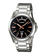 Casio New Original MTP-1370D-1A2 Mens Watch Silver Stainless Steel WR50M MTP1370