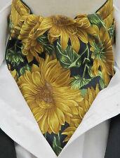 Ascot FOULARD DA COLLO-Vibrante Girasole Design Con Fazzoletto di cotone-Made in UK