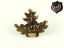 Brass Oak Leaf Mount, cover, ornament, decoration used for mounting Boar Tusks